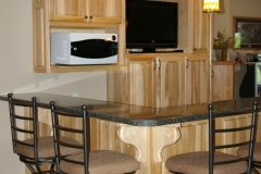 Hickory Home Bar Cabinetry