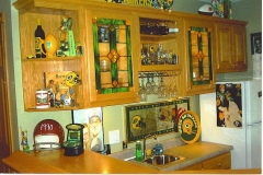 Oak Packers Bar Cabinets