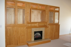 Fireplace and Shelving