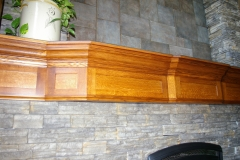 Quarter Sawn Red Oak Mantle