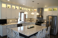White painted kitchen cabinetry