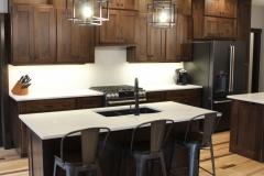 Walnut kitchen cabinet island