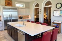 Kitchen Island and White Kitchen Cabinets