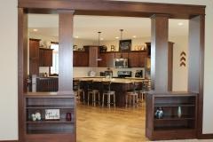 White Oak Family Room Cabinetry