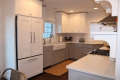 White Kitchen Wall Cabinets Gray Base Kitchen Cabinetry