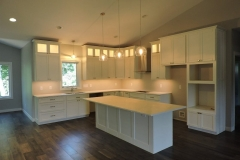 White Painted Kitchen Cabinetry and Island