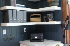 Laundry Room Cabinets & Floating Shelves