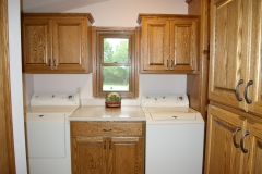 Built In Oak Laundry Cabinets